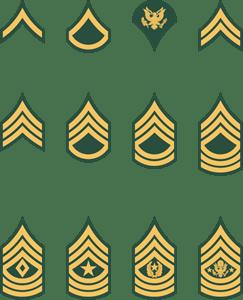U S Army Enlisted Rank Insignia Logo Vector Ai Free