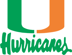 University of Miami Hurricanes Logo Vector