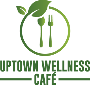 Uptown Wellness Cafe Logo Vector