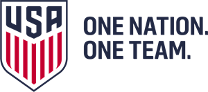 USA One Nation One Team Logo Vector