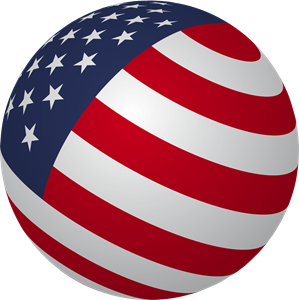 USA Sphere Flag Logo Vector (.AI) Free Download
