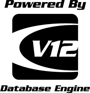 V12 Database Engine Logo Vector