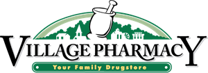 Village Pharmacy Logo Vector