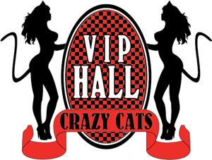 Vip Hall Crazy Cats Logo Vector