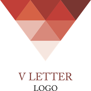 V Letter Diamond Inspiration Logo Vector
