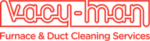 Vacu-Man Duct and Furnace Cleaning Logo Vector