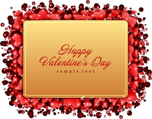 valentine day love card Logo Vector