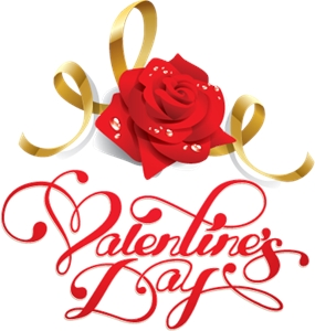 Valentine's Day With a Flower Logo Vector