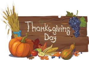 vegetable set thanksgiving day typography wood Logo Vector
