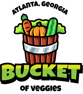 Veggies bucket Logo Vector