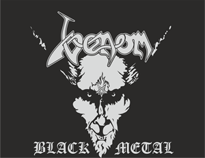 Venom Black Metal Logo Vector