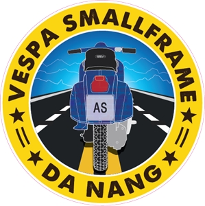 Vespa Smallframe Club Danang Logo Vector