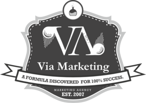 Via Marketing Logo Vector