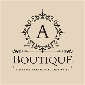 Vintage Boutique Logo Vector
