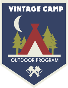 Vintage camp outdoor program Logo Vector