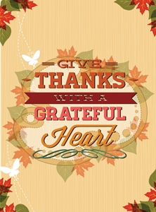 vintage maple leaf thanksgiving poster Logo Vector