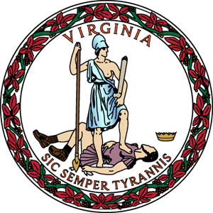 Virginia State Seal Logo Vector