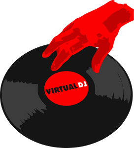 Virtual DJ Logo Vector