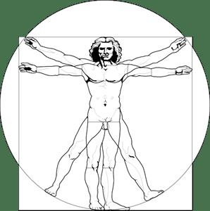 Vitruvian Man Logo Vector (.PDF) Free Download