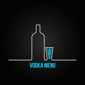 Vodka Menu Logo Vector