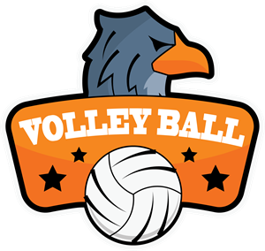 Volleyball with an eagle Logo Vector