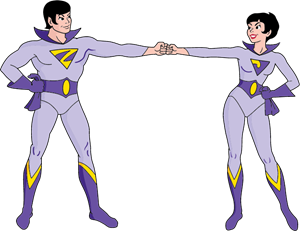 Wonder Twins Logo Vector