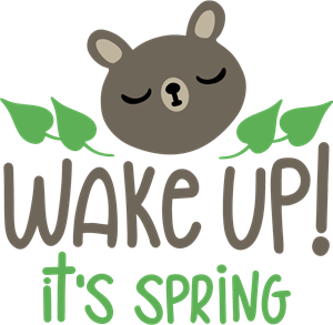 WAKE UP! IT'S SPRING Logo Vector