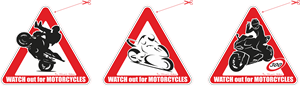 Watch out for motorcycles Logo Vector