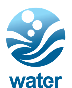 Water round wave Logo Vector