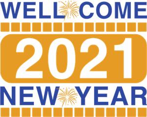 Well come new year Logo Vector