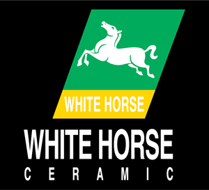 White horse ceramic Logo Vector