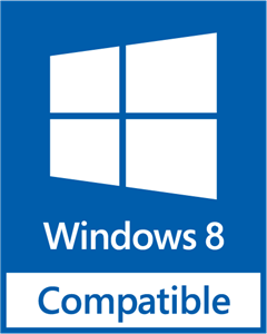 Windows 8 Compatible Logo Vector