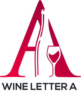 Wine Letter A Logo Vector