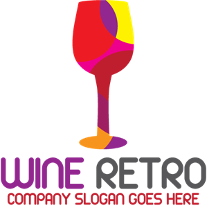 Wine retro Logo Vector