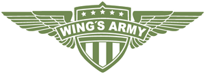 Wings Army Logo Vector