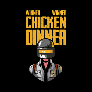 WINNER WINNER CHICKEN DINNER - PUBG Logo Vector