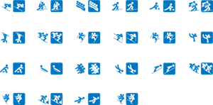 Winter Olympics 2014 pictograms Logo Vector