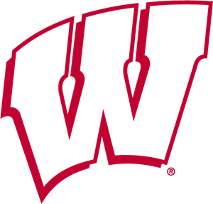 Wisconsin Badgers knockout Logo Vector
