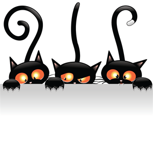 witch halloween cat Logo Vector