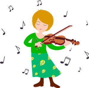 woman playing violin Logo Vector