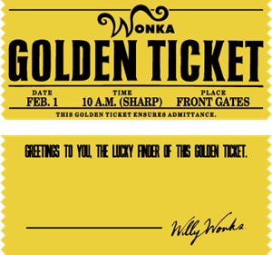 Wonka Golden Ticket Logo Vector