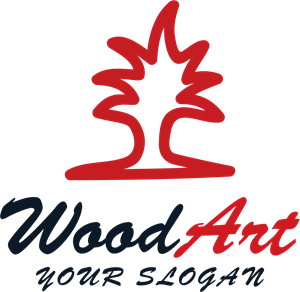 Wood arts Logo Vector