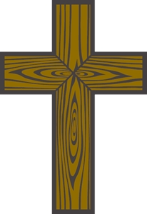 wood cross Logo Vector