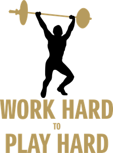 Work Hard Play Hard Logo Vector