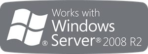 Works with Windows Server 2008 R2 Logo Vector