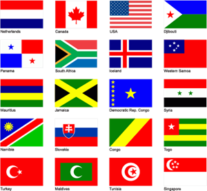 World Flags Logo Vector