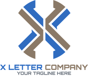 X Letter Company Logo Vector