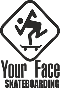 Your Face Skateboarding Logo Vector