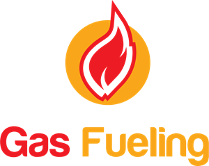 Yellow and red gas fueling Logo Vector