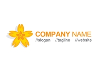Yellow Flower Logo Vector